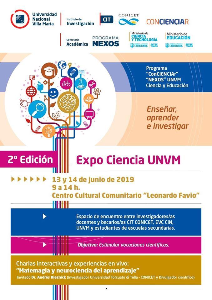 Folleto general Expo Ciencia UNVM