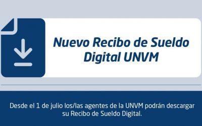Personal de la UNVM podrá descargar su recibo de sueldo digital